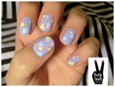 #pastel #geometric #nails #spring