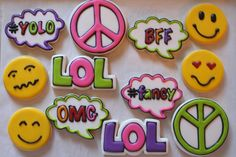 Emoji Themed Birthday Party Cookies 13th Birthday Parties, 12th Birthday, Birthday Party Themes, Birthday Ideas, Party Emoji, Emoji Cake, Fondue Party, Party Fiesta, Christmas Star
