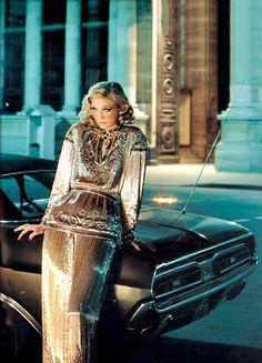 glamour photography Helmut Newton Model (possibly) Catherine Deneuve 70s Fashion, Fashion Models, Vintage Fashion, Fashion Portraits, High Fashion, Editorial Photography, Fashion Photography, Glamour Photography, 1970s Photography