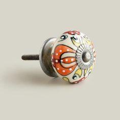 Embossed Floral Ceramic Knobs, Set of 2 | World Market