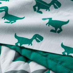 Little Prints Toddler Sheet Set (Green Dino) | The Land of Nod