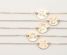 Delicate Zodiac Bracelet Gold, Silver or Rose Gold / Horoscope Gold Bracelet Scorpio / Personalized Dainty Gold Bracelet Astrology LB211