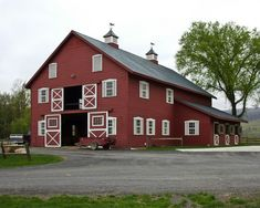 Traditional red barn