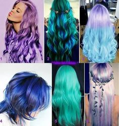 if I could pull it off, I would totally do the purple. top left <3