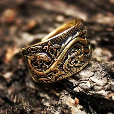 """78 Likes, 7 Comments - Aleke Vilhelmsdottir (@livingpaganism) on Instagram: """"Cannot wait until I hold this piece of art in my hands. An ukrainian artist made this bronze ring…"""""""
