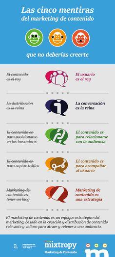 Las 5 mentiras del marketing de contenidos - http://conecta2.cat/las-5-mentiras-del-marketing-de-contenidos/ @Conecta2cat