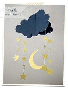 DIY Mobile Sweet Dreams -- Adorable! Have to remember this.