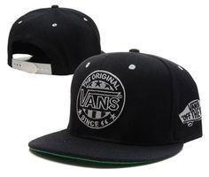 Vans-Snapback-Black-Old-School-Logo-Stitched-Skater-Surfer