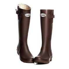 Ladies Rockfish Wellington Boots - Chocolate - Boxed
