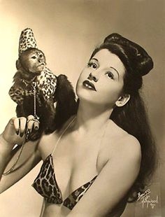 Sally Lane and her monkey