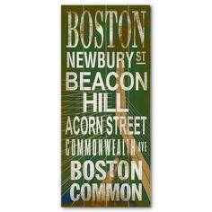 Boston Transit Sign.