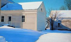 """Kathleen Kolb .Clear Bright Blue White, 24"""" x 36"""" Oil on Linen,"""