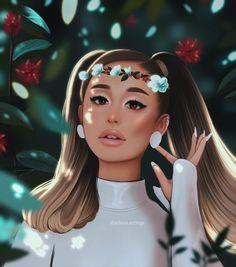 Ariana Grande Anime, Ariana Tour, Ariana Grande Drawings, Ariana Grande Cute, Ariana Grande Photoshoot, How To Draw Anime Eyes, Purple Wallpaper Iphone, Celebrity Drawings, Jungkook Cute