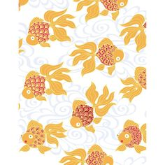 $7.95/ Roll. Goldfish Wrapping Paper - Flat Sheet - Paper Source