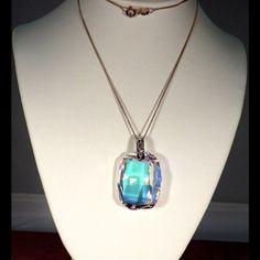 Spotted while shopping on Poshmark: Striking Swarovski Crystal Aurora Borealis Necklac! #poshmark #fashion #shopping #style #Crystals by Swarovski #Jewelry