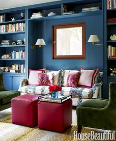 Chloe Warner of Redmond Aldrich Design featured in House Beautiful - custom blue in our satin finish