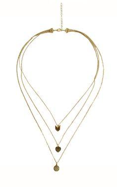Chevron Dainty Necklace - Gold