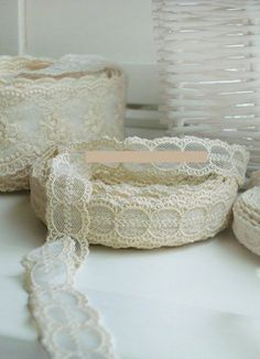 Romantic Cotton lace  Audrey20mm by prettyribbon on Etsy, $1.70