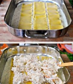 White Cheese and Chicken LasagnaChicken cheese spinach  Source pinterest.com/  FULL RECIPE HERE  White Sauce Recipe  white sauce recipe white sauce recipe for pasta white sauce recipe pasta white sauce recipe for pizza white sauce recipe pizza white sauce recipe japanese white sauce recipe cheese white sauce recipe with cheese bechamel sauce recipe lasagna white sauce recipe for chicken white sauce recipe mexican white sauce recipe for fish tacos white sauce recipe chinese white sauce recipe… White Sauce Recipe Microwave, Salmon White Sauce Recipe, White Sauce Recipe For Fish Tacos, Recipe For Fish Pie, Fish Taco White Sauce, Chicken White Sauce, Easy White Sauce, White Sauce Recipes