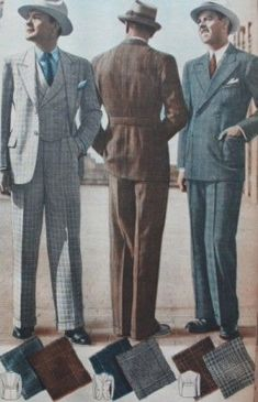 1937 Men's Suits for Spring- 1930s men's fashion