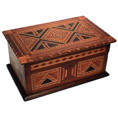 Fine Marquetry Jewelry Box