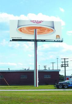 Now THAT is one thick milkshake - McDonald's Bulletin Board Guerilla Marketing