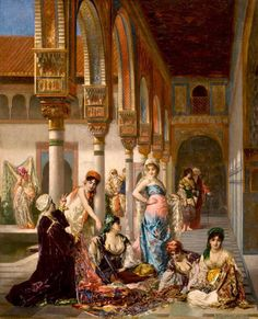 Splendeur Orientale - Edouard  Frederic  Wilhelm Richter  (German Painter, 1844-1913)