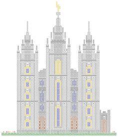 Templo de salt lake  Punto cruz