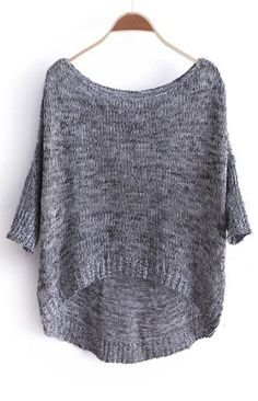 Dipped Hem Jumper Sweater