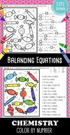 The Amazing Balanced Equations Race | ideas for school | Balancing ...
