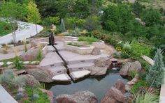 Suggestions to Help You Decide Where Rocks, Stones and Pebbles Fit right into an Outdoor Space Landscaping A Slope, Landscaping Company, Landscaping With Rocks, Contemporary Landscape, Landscape Design, Landscape Bricks, Rock Decor, Rock Design, Water Features