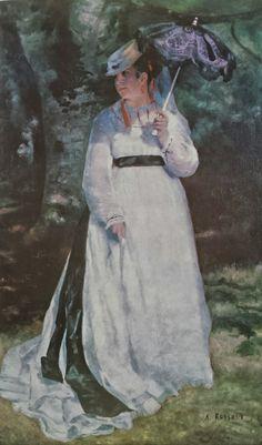 "favoritus: Pintura ""Lise com sombrinha"" - 1867 de Renoir"