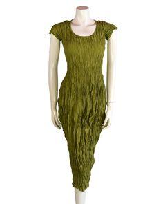 1c22ec9da24b Privatsachen Crushed Silk Dress Kasper Green winter 2016 120306
