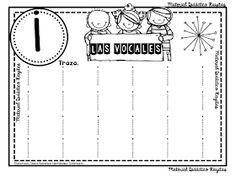 SGBlogosfera. María José Argüeso: LAS VOCALES EN GRAFOMOTRICIDAD Letter I Worksheet, Subtraction Worksheets, Preschool Activities, 1, Shoulder Bag, Teaching, Lettering, Bingo, Candy