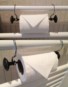Creative and simple way to make your own toilet paper holder!