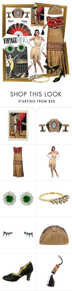 """""""Vintage bling"""" by lizts ❤ liked on Polyvore featuring Paul Frank, Unique Vintage, Vintage, Napoleon Perdis and vintage"""