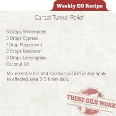 Young Living Essential Oils help relieve carpal tunnel syndrome! these oils work!