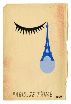 """""""Paris, je t'aime"""" de l'artiste indien Gary Taxali."""
