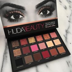 Instock too NEW 18 Colors Huda Beauty Eyeshadow Rose Gold Textured Pallete Make up Eye shadow Palette faced matte sweet peach Huda Beauty Eyeshadow Palette, Matte Eyeshadow, Matte Makeup, Makeup Eyeshadow, Huda Beauty Rose Gold Palette, Huda Palette, Makeup Brushes, Sephora Eyeshadow, Makeup Collection