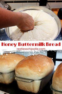 Sandwich Bread Recipes, Best Bread Recipe, Bread Machine Recipes, Honey Buttermilk Bread, Homemade Buttermilk, Homemade Breads, Cooking Bread, Bread Baking, Bread Bun