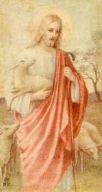 Molti ritengono Gesù ancora più evanescente di come appare in questo santino: Lui, però, è ben ancorato nella storia.