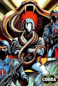 "bulletride-actionwear: Battle Action Force / G. Joe comic cover artwork showing Cobra Commander on his throne… "" Thundercats, Anubis, Dojo, Walt Disney, Cobra Art, Cobra Commander, Nostalgia, Gi Joe Cobra, Cartoon Tv Shows"