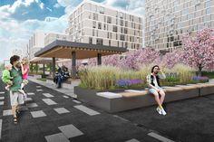 Концепция реорганизации набережной «Ривер Парк» © T+T architects