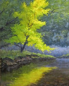 """Scott Ruthven - Artist in Disguise """"Placing Her Leaves Upon The Water"""" 