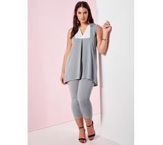 Souprava topu a korzárských kalhot | modino.cz #ModinoCZ #modino_cz #modino_style #style #fashion #set #bellisima