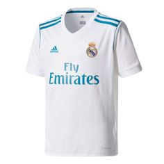 Real Madrid adidas Youth 2017 18 Home Replica Blank Jersey - White aff2f5c94057b