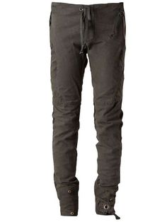 Greg Lauren | GREG LAUREN drawstring trousers #greglauren #trousers