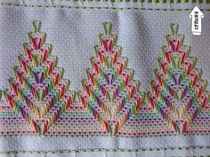 Swedish Embroidery, Blackwork Embroidery, Hand Embroidery Stitches, Ribbon Embroidery, Cross Stitch Embroidery, Embroidery Patterns, Cross Stitch Borders, Cross Stitch Designs, Cross Stitch Patterns