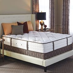Come home to excellence. Crafted to our exacting standards and made with the finest materials, The Ritz-Carlton Bed embodies our luxurious approach to living and precise attention to details. Our custom-designed hotel mattress features a plush-top construction for a soft, inviting top-surface; reinforced foam-encased edges for comfortable sitting and maximum room to spread out from corner to corner; and an advanced cooling design for perfect temperature control. Its stylish box spring is…