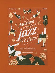 The Jarasum International Jazz Festival Graphic Design Award 2013 - Grand Prize Dm Poster, Jazz Poster, Poster Layout, Jazz Festival, Festival Posters, Design Festival, Design Graphique, Art Graphique, Book Design